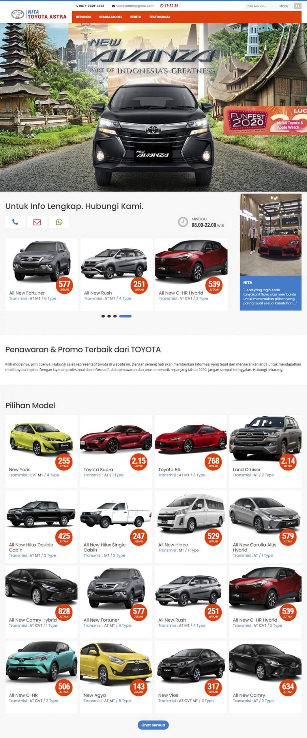 Nita Toyota Astra – Web – Home